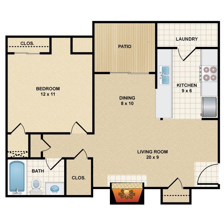 1 bedroom 1 bathroom