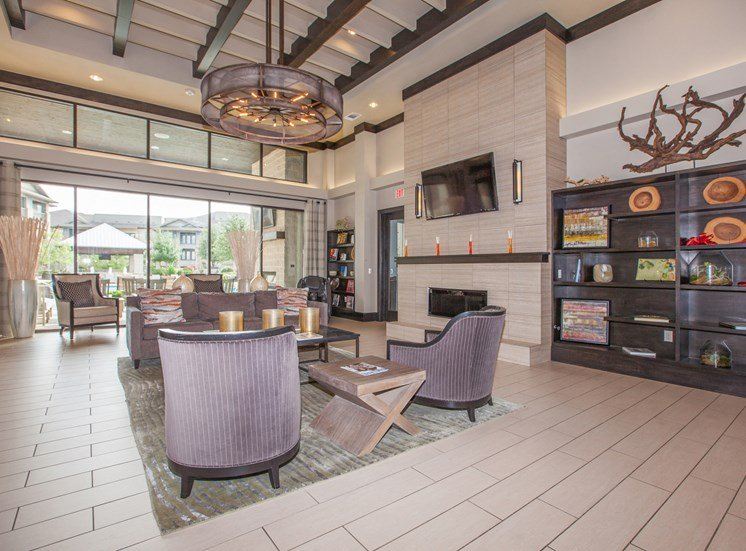 modern clubhouse area