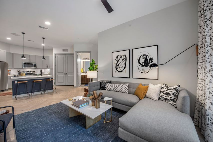 Bright open concept living room