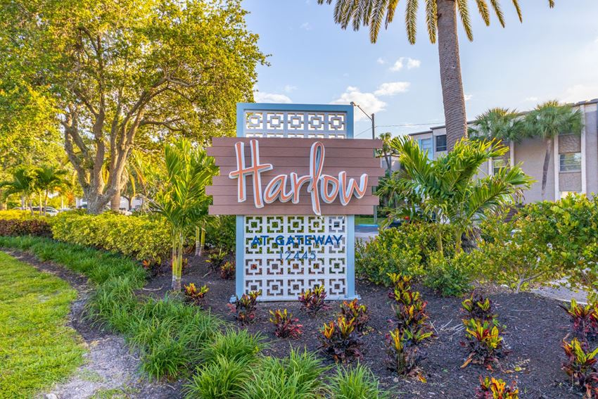 Welcome Sign at Harlow at Gateway, St. Petersburg