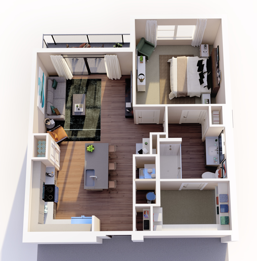 a2_floor plan in luxury fort worth apartment