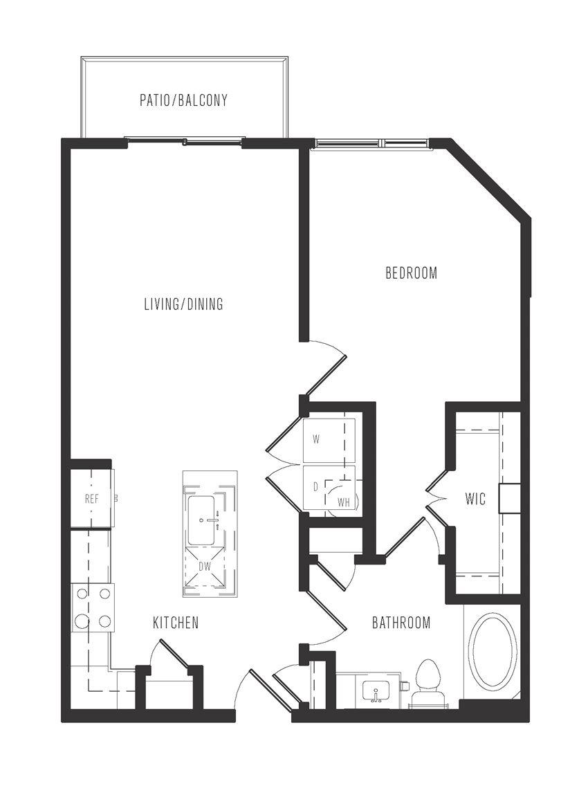 a1b floor plan in dallas texas apartments