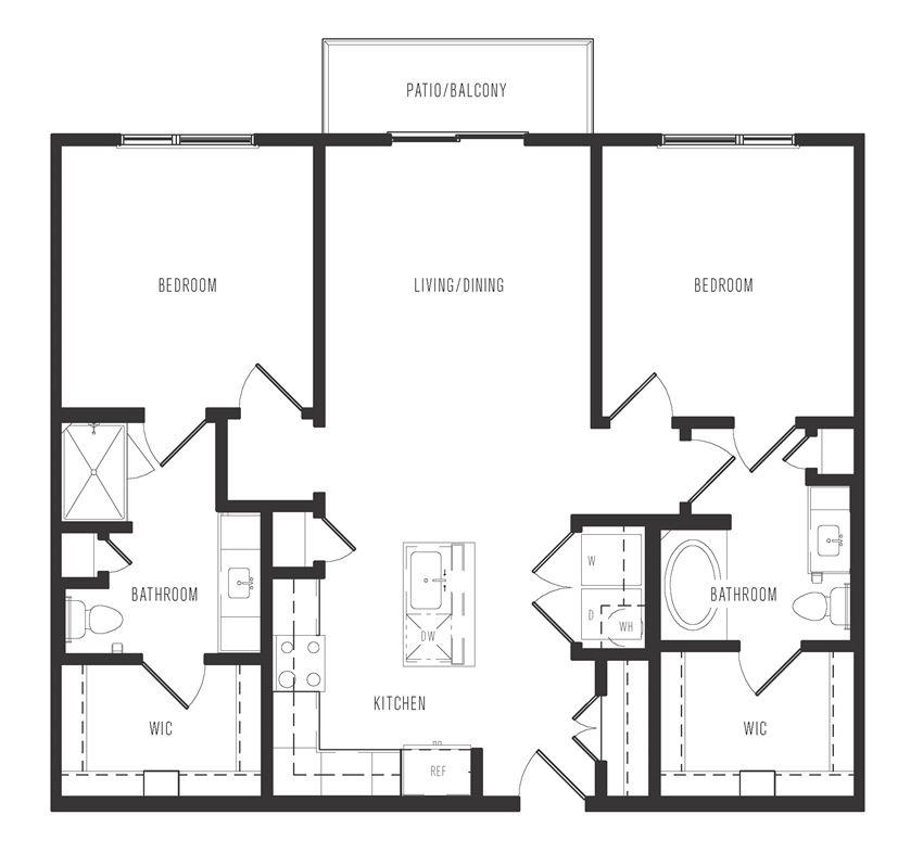 b1 floor plan in dallas texas apartments