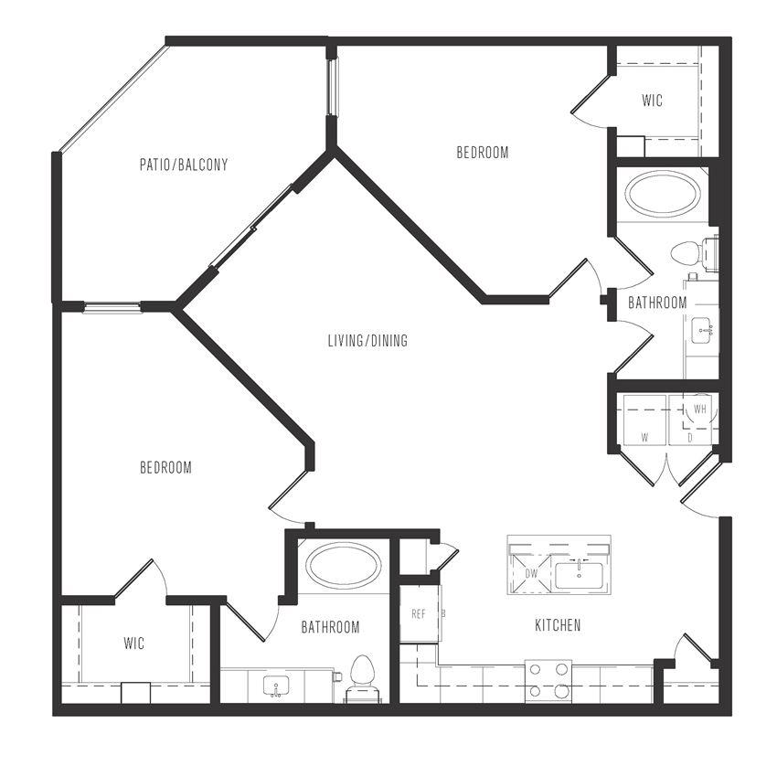 b2 floor plan in dallas texas apartments