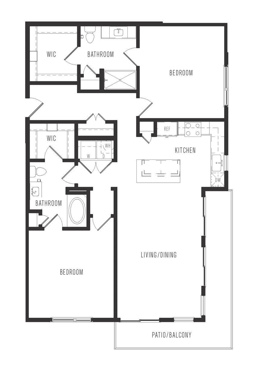b3 floor plan in dallas texas apartments
