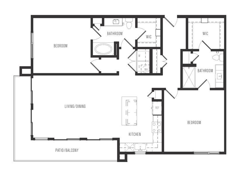 b3a floor plan in dallas texas apartments