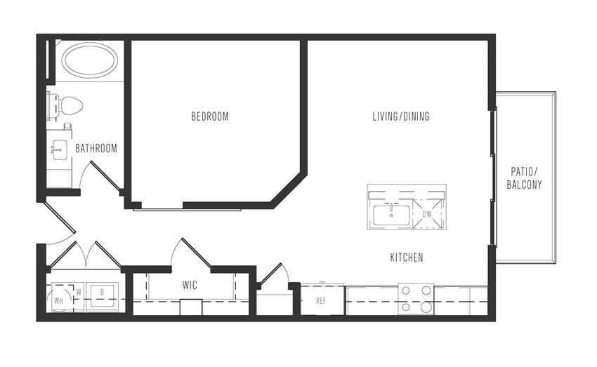 e1a floor plan in dallas texas apartments