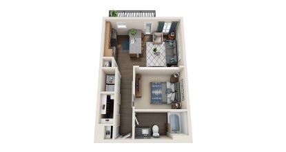 a1 floor plan in irving tx apartments