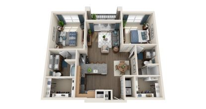 b1 floor plan in irving tx apartments