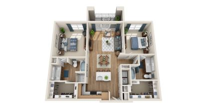 b2 floor plan in irving tx apartments