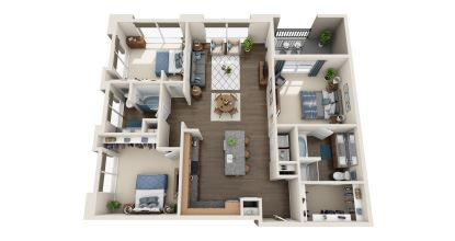 c1 floor plan in irving tx apartments