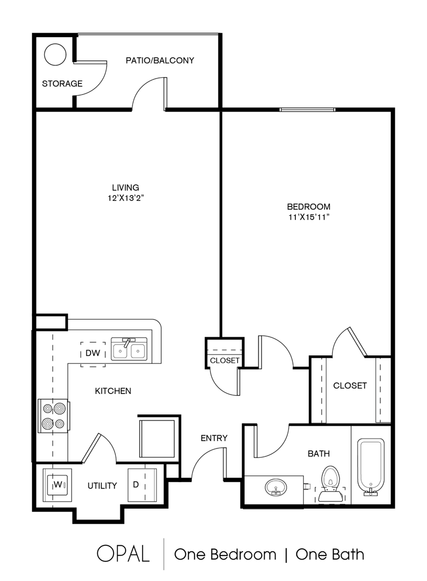 A1C Floor Plan at Elan Apartment Homes, Austin, Texas