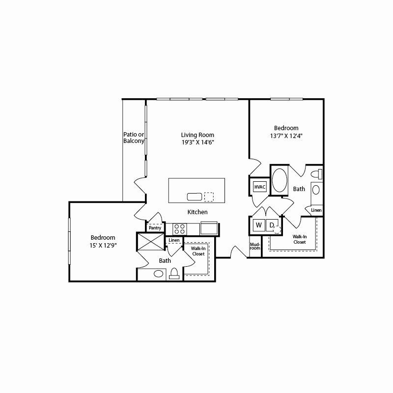 b3 floor plan in fort worth tx apartments