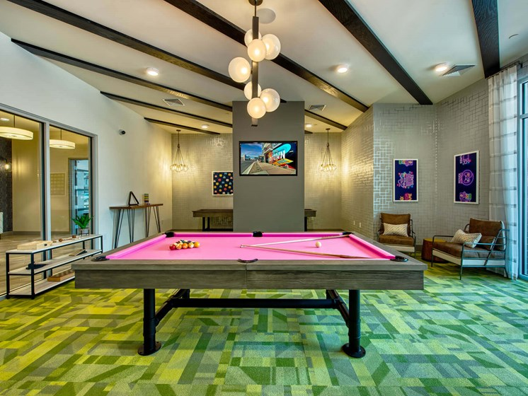 Billiards Table In Game Room at Centra Midtown Phoenix, Phoenix, 85012