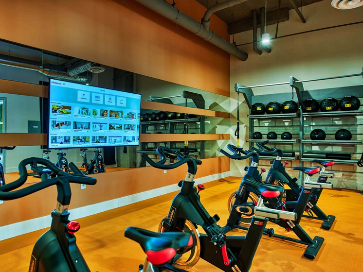 Cardio Studio Equipment at Centra Midtown Phoenix, Arizona, 85012