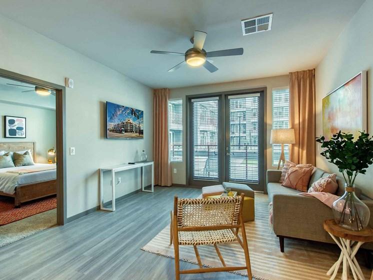 Living Room Come Bedroom View at Centra Midtown Phoenix, Phoenix, Arizona