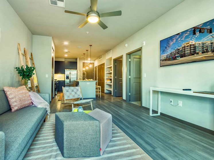 Modern Living Room at Centra Midtown Phoenix, Phoenix, 85012
