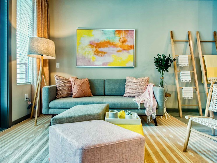 Spacious Living Room at Centra Midtown Phoenix, Phoenix, AZ, 85012