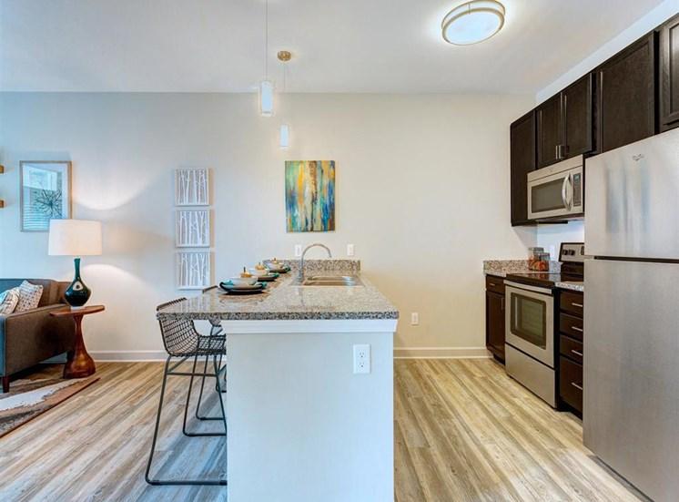 Granite Countertop, Dishwasher In Kitchen at Whetstone Flats, Nashville, TN