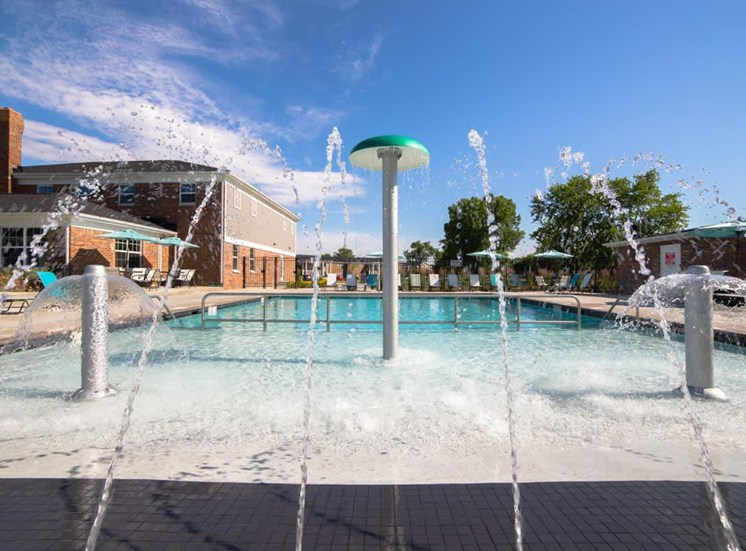 Pool With Fountains at Gramercy, Carmel, IN, 46032