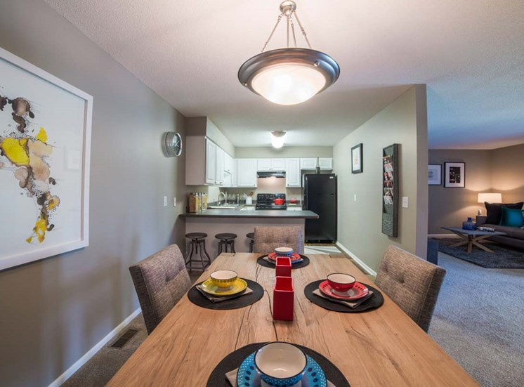 Dining Room and Kitchen View at Gramercy, Indiana