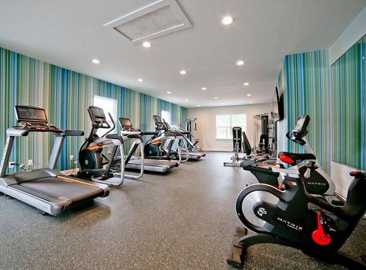 Cardio Machines In Gym at Gramercy, Carmel, IN, 46032