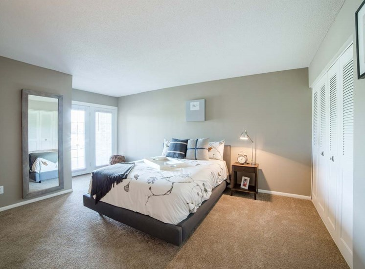 Bedroom With Expansive Windows at Gramercy, Carmel, IN, 46032