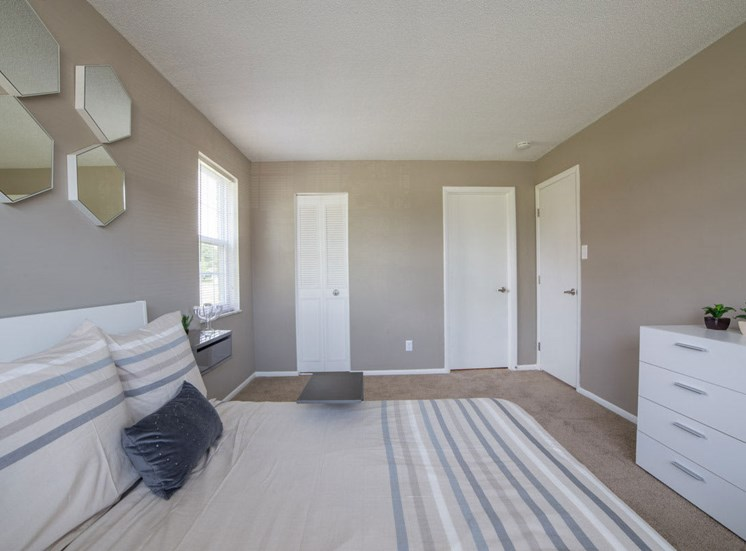 Comfortable Bedroom With Large Window at Gramercy, Carmel, Indiana