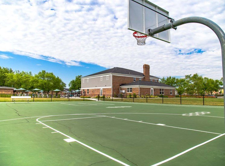 Basketball Court View at Gramercy, Carmel, Indiana