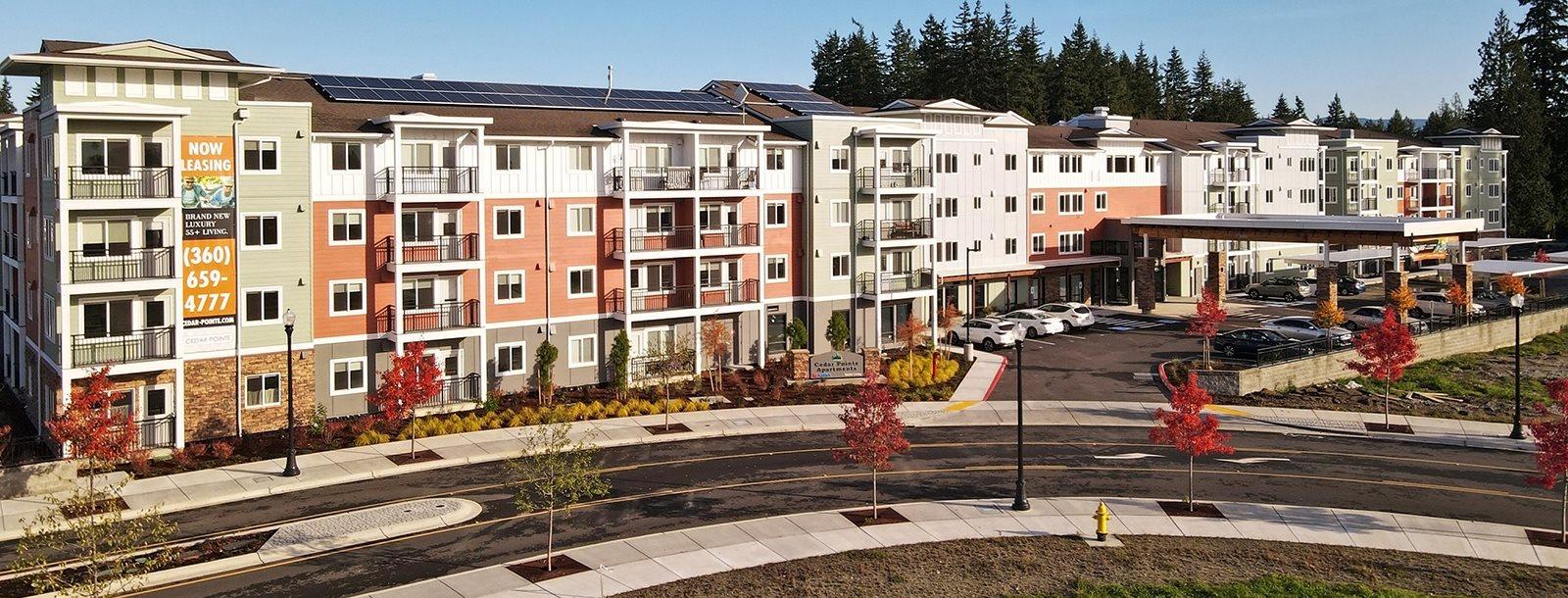 Community View of Cedar Pointe Senior Apartment Homes