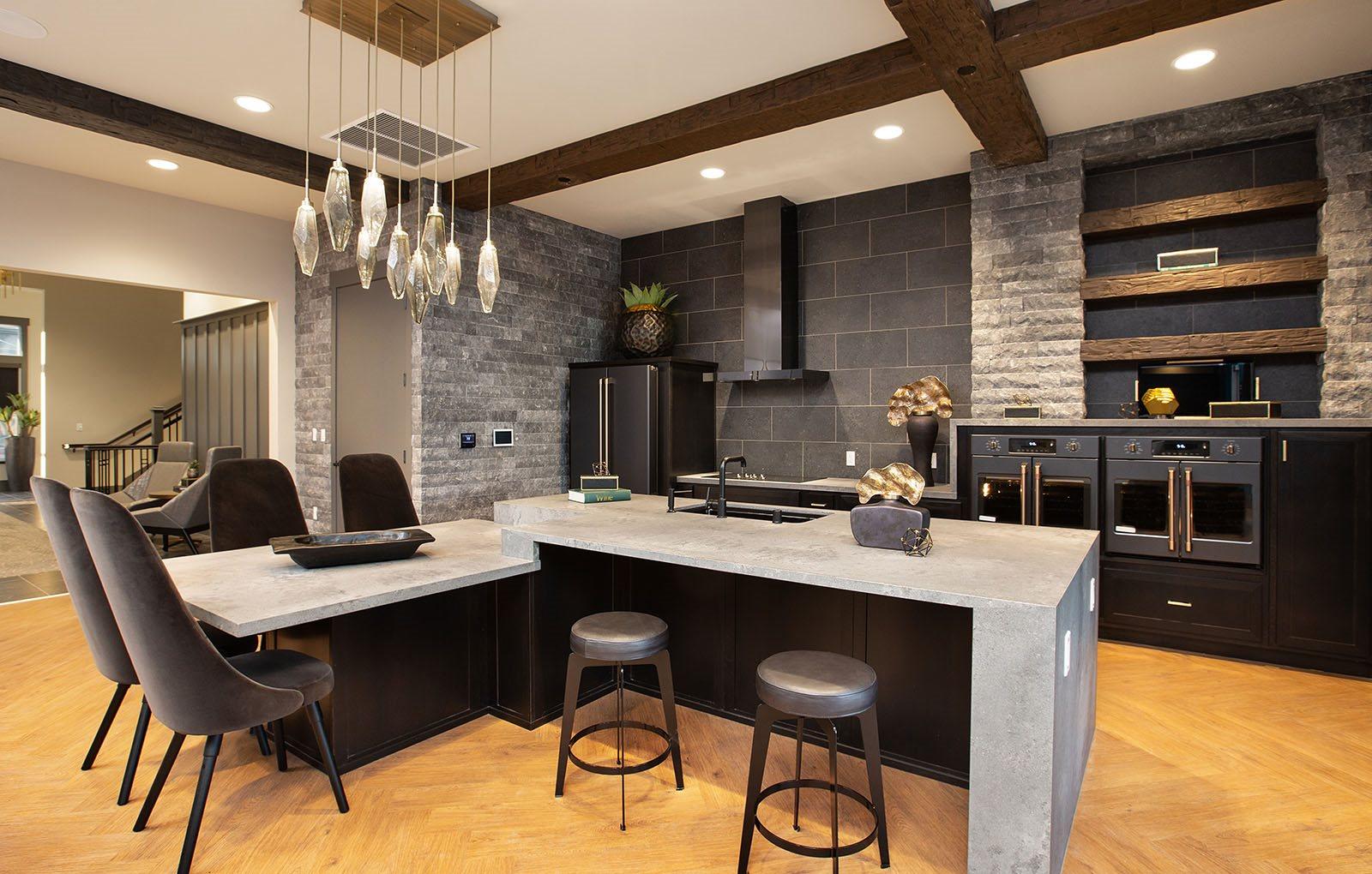 Clubhouse kitchen l Alira Apartments in Sacramento Ca