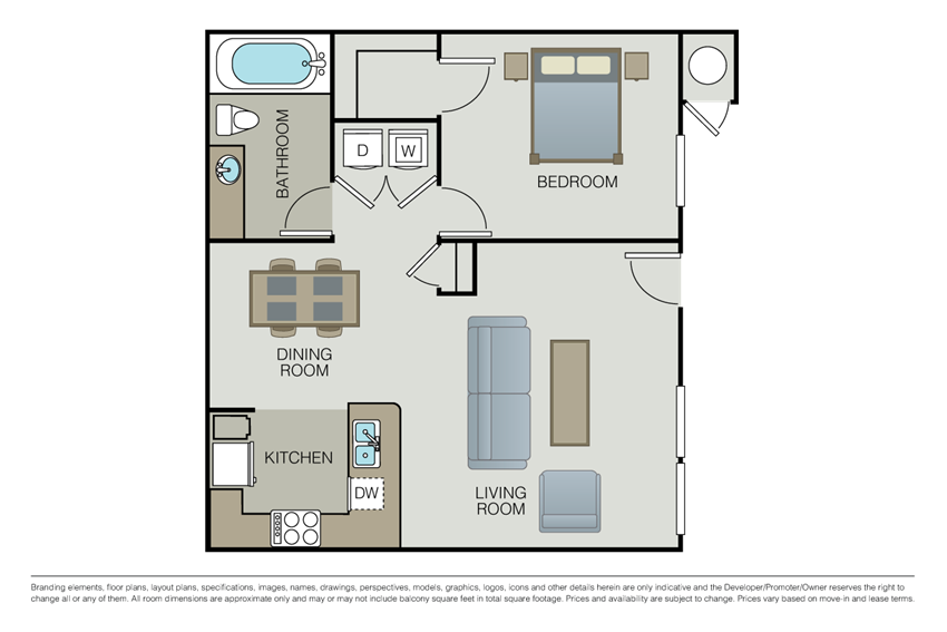 One bedroom floor plan l Simi Valley, CA Apartments For Rent