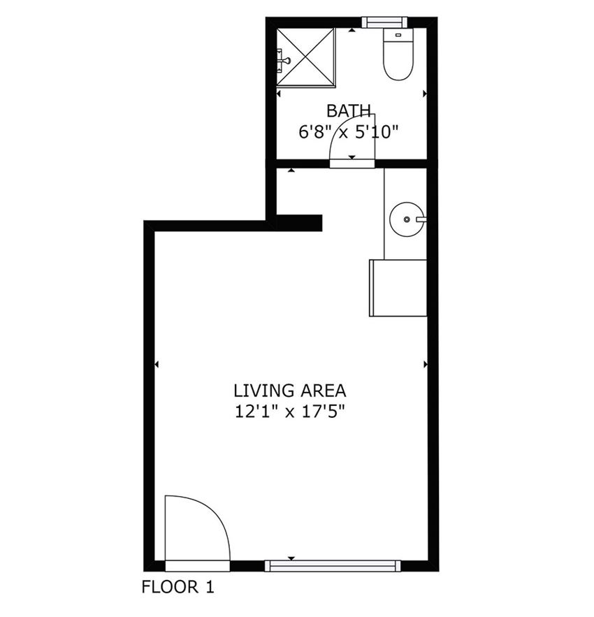 studio bedroom floor plan
