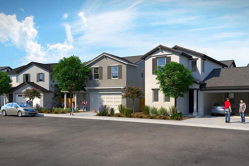 Rendering of community homes from street