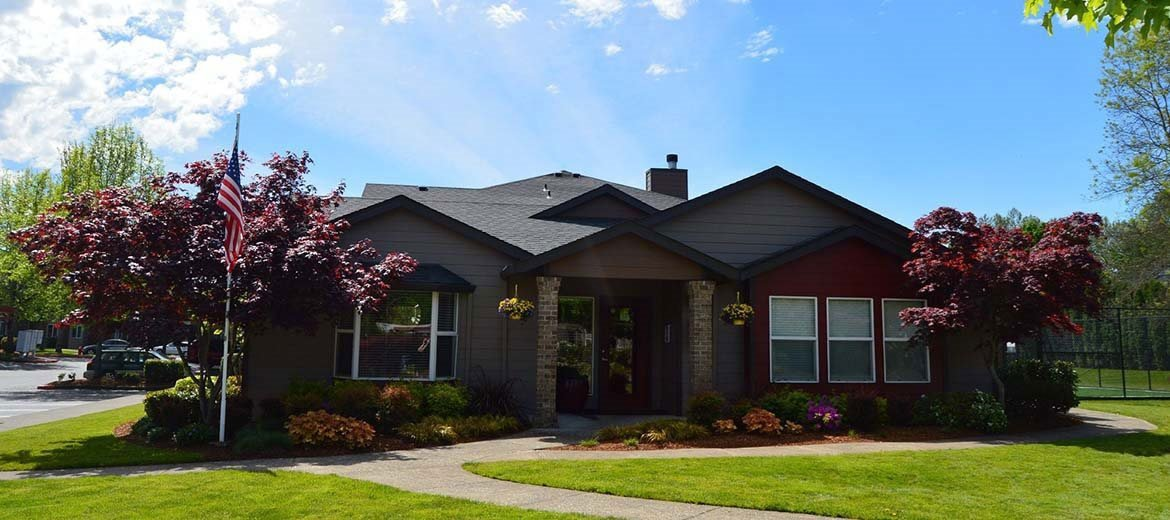 Exterior view of buildings l Township Apartments in Canby OR