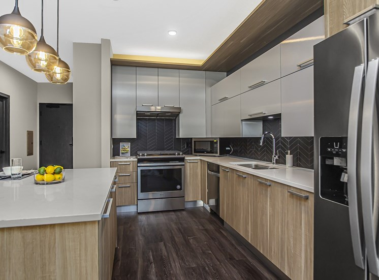 spacious kitchens with cabinets