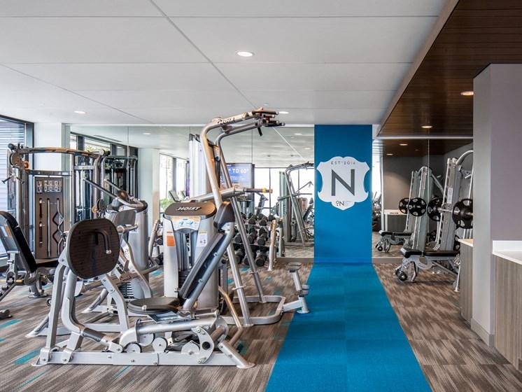 fitness center and yoga studio