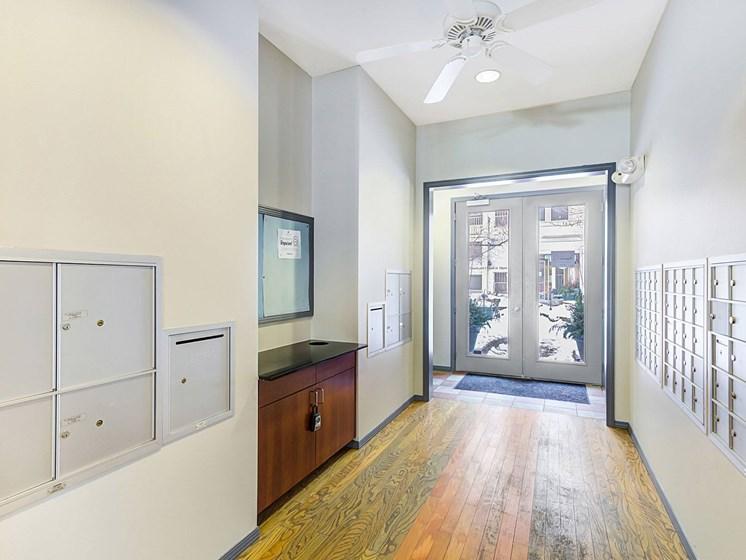 hallway/mail room