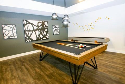 Pool Table and Shuffleboard