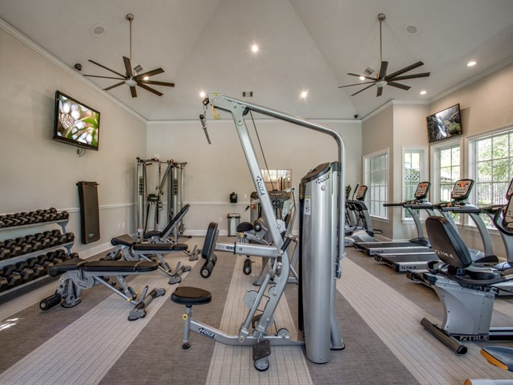 free Weights In Fitness Center at The Gio, Plano