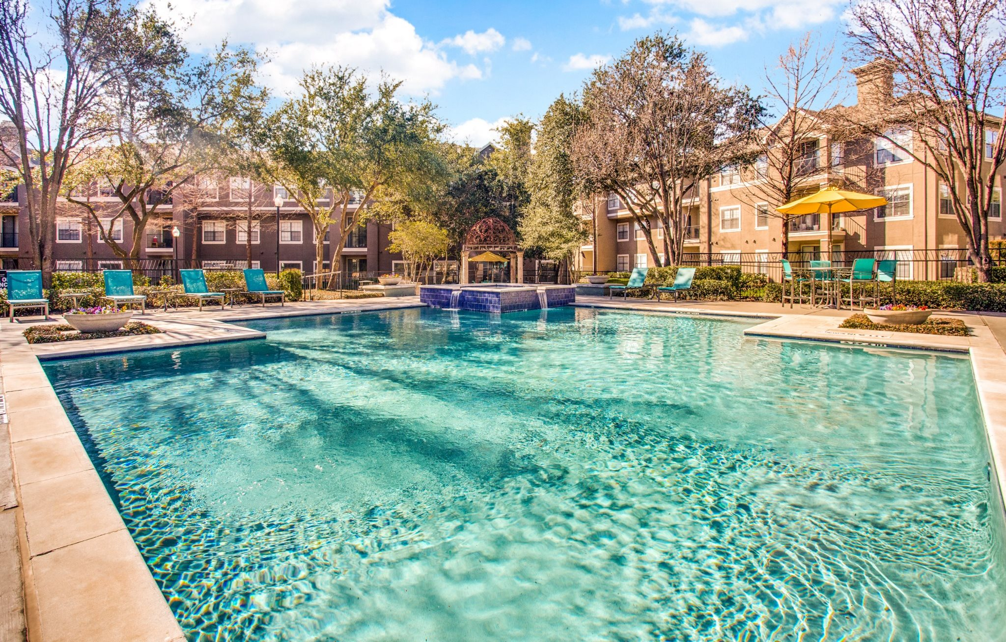Modern Style Pools at The Gio, Plano, Texas