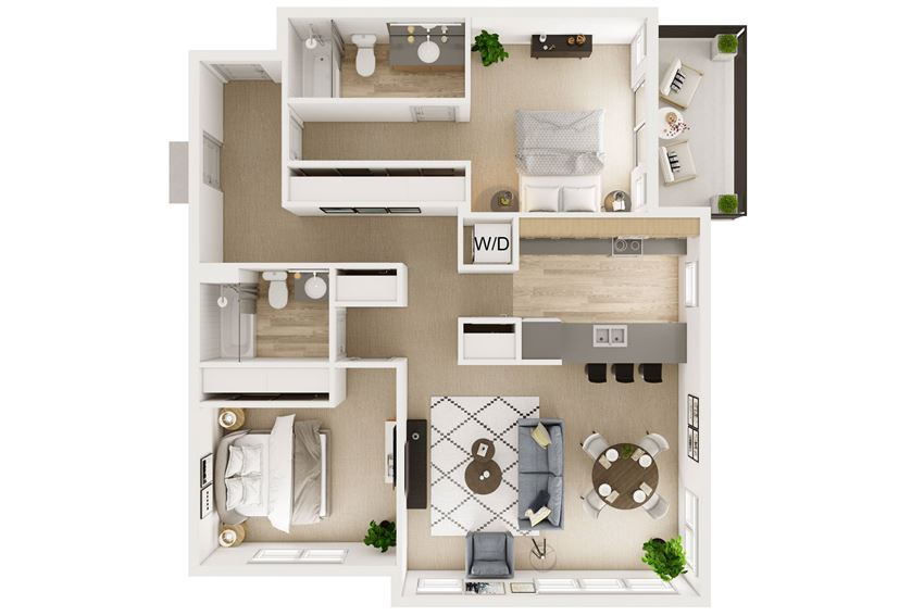 2 Bed 2 Bath Stack 11