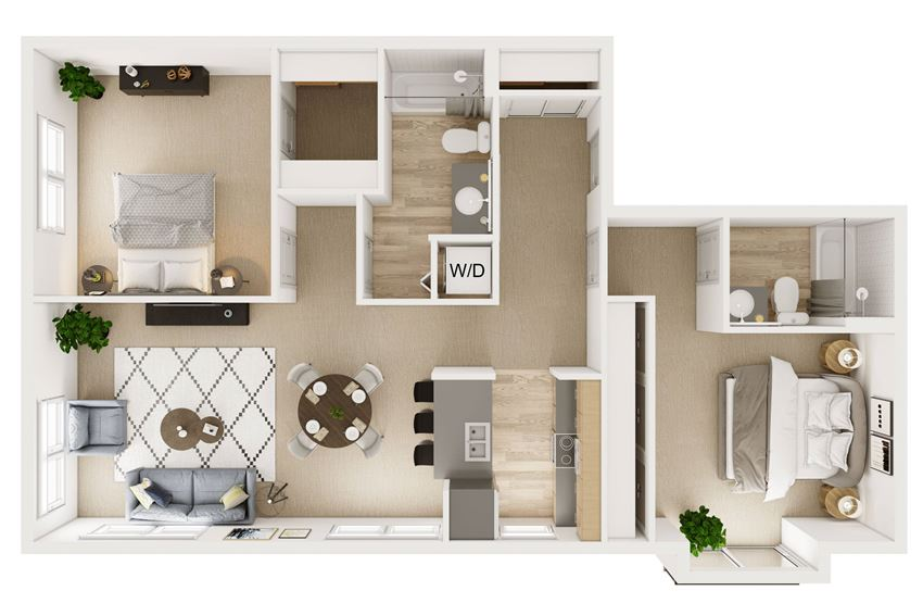 2 Bed 2 Bath 1100 Stack 2