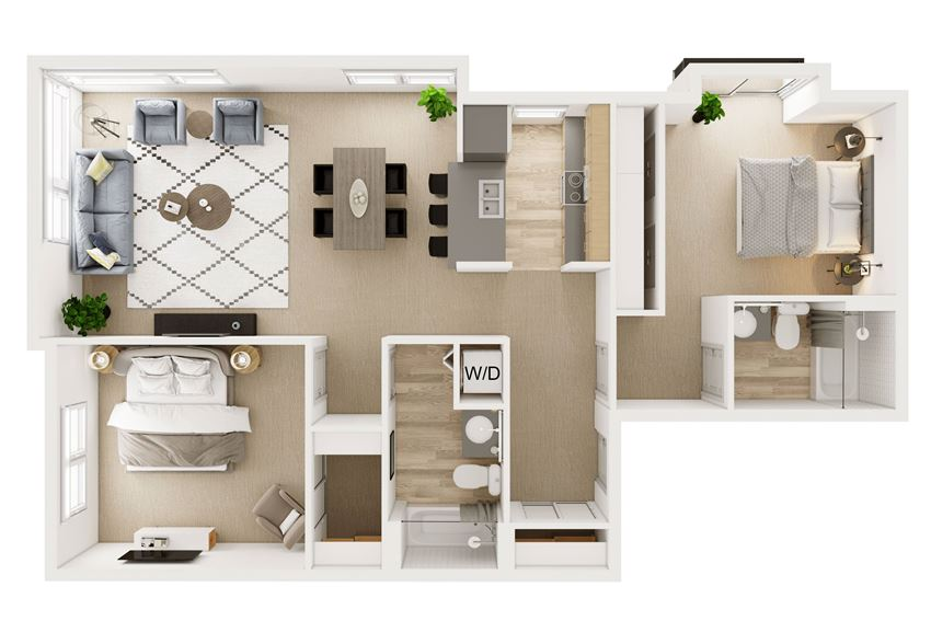 2 Bed 2 Bath Stack 6