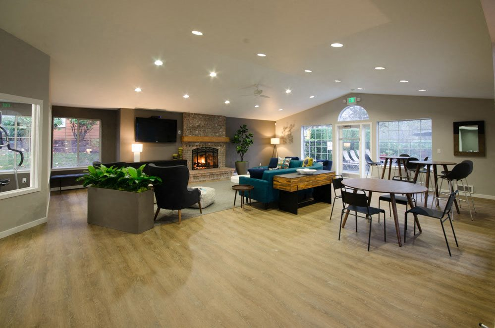 clubhouse lounge area with television