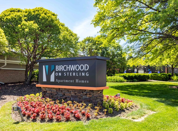 birchwood on sterling entrance sign