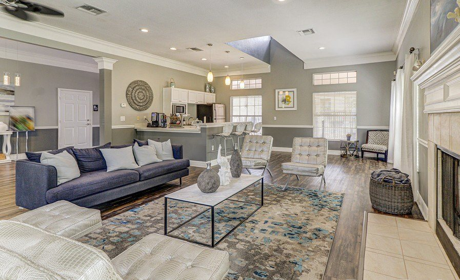 Luxurious Clubhouse With Fireplace at Plantation Gardens Apartments, Pinellas Park, 33782