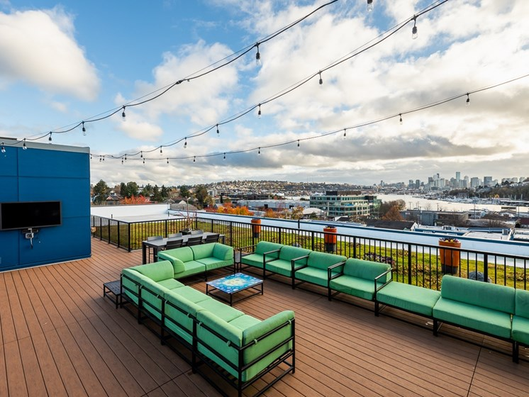 Roof Top Deck with Seattle Skyline Views