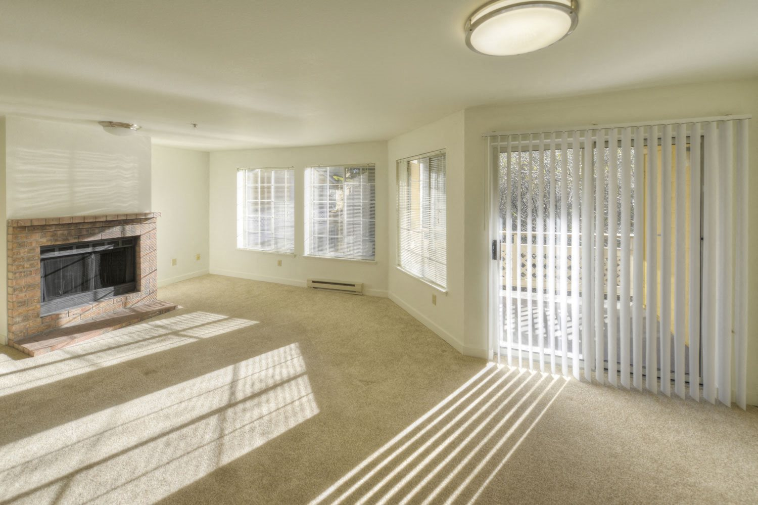 Classic unit living and dining area