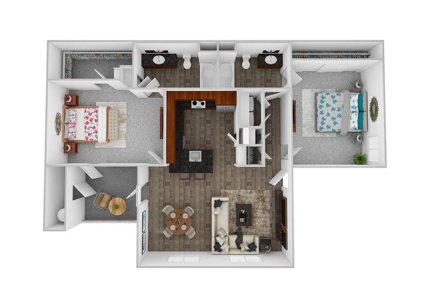 Element 2 Bedroom 2 Bath 1278 square feet